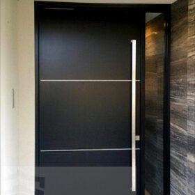 Kompak Kompozit Siyah Mat Villa Kapısı YHY 0290