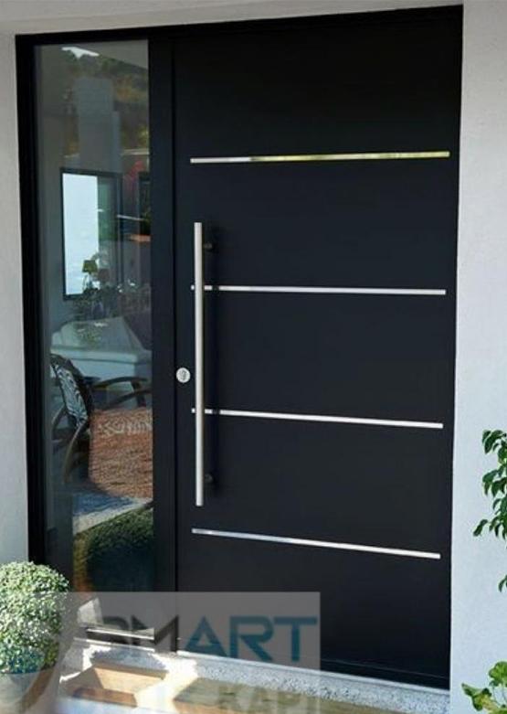 Kompak Kompozit Siyah Villa Kapısı YHY 0289
