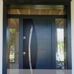 Mat Siyah Kompak Kompozit Villa Kapısı YHY 0298