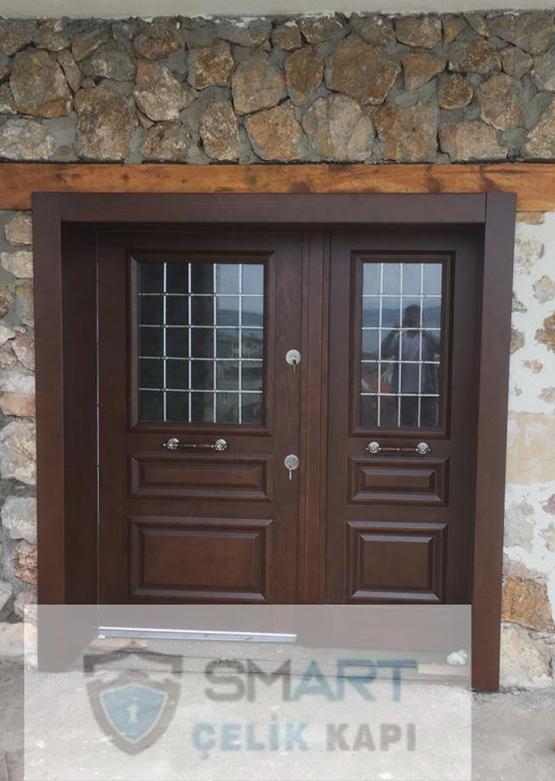 Özel Kahverengi Kompak Kompozit Villa Kapısı YHY 0303