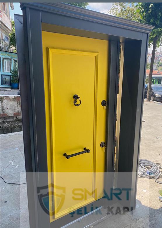 Sarı Lüks Kompak Kompozit Villa Kapısı YHY 0294