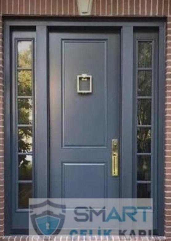 Siyah Mat Kompak Kompozit Villa Kapısı YHY 0291