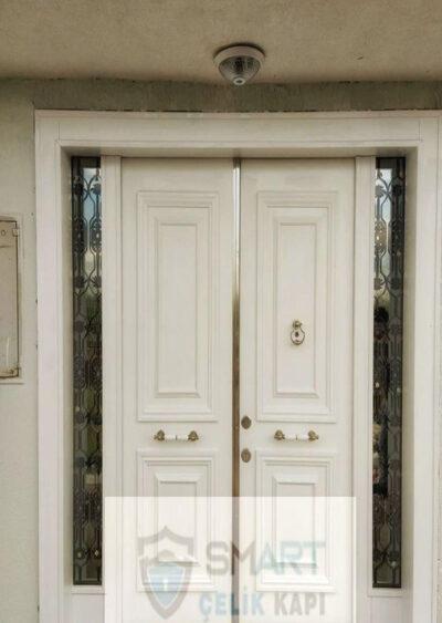 Lüks Dayanıklı Beyaz Villa Kapısı YHY 0306