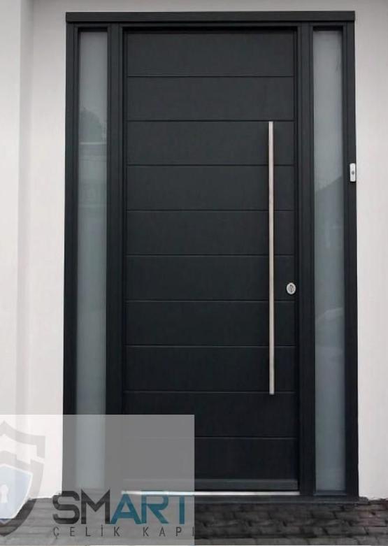 Siyah Modern Lüks Villa Kapısı YHY 0309