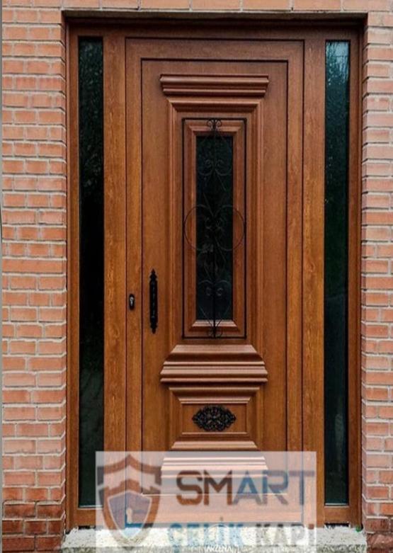 Lüks Ahşap Villa Kapısı YHY 0316