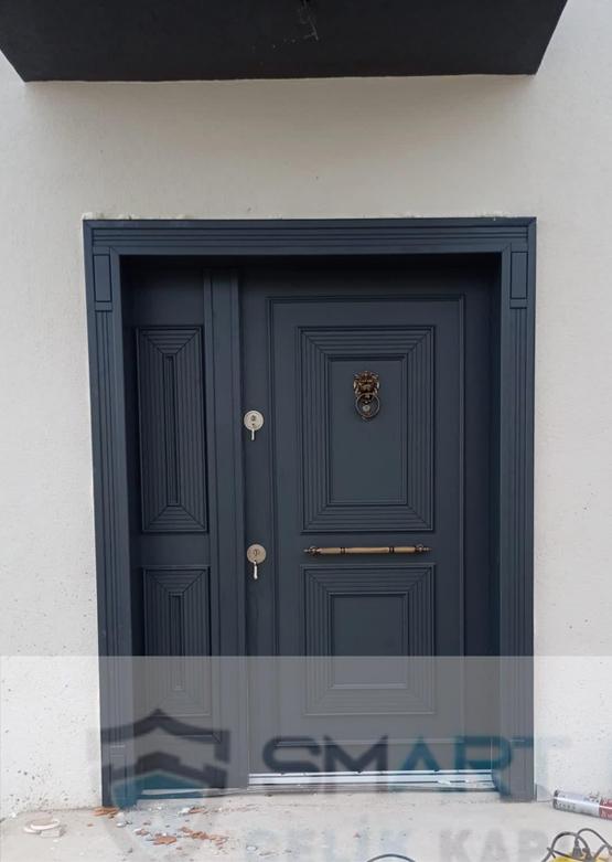 Siyah Modern Lüks Ahşap Villa Kapısı YHY 0312